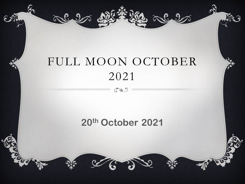 october full moon 2021 in  usa canada australia uk