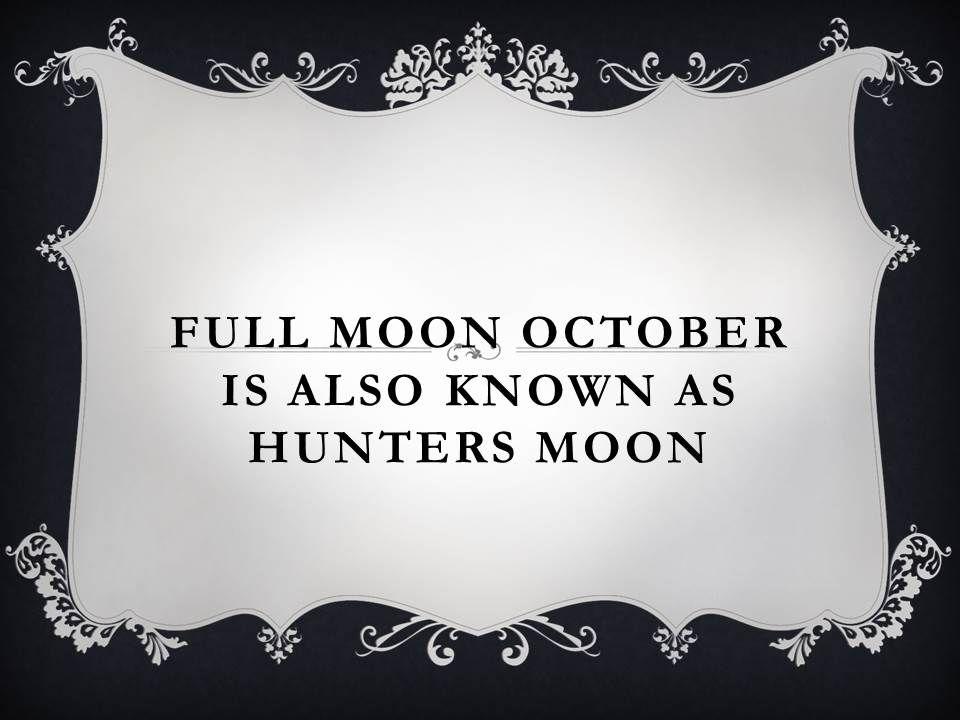 october full moon hunters moon