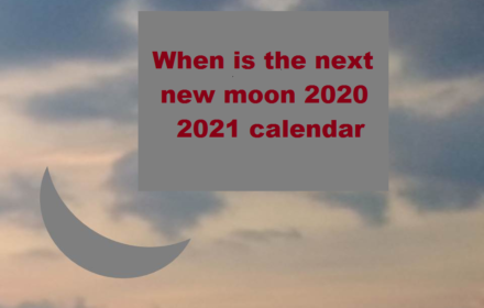 when is the next new moon 2020 2021