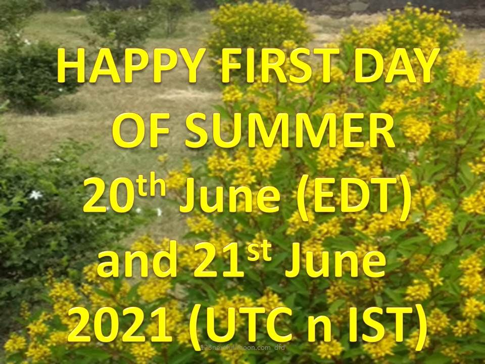 official first day of summer 2021