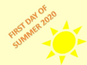 first day of summer 2020