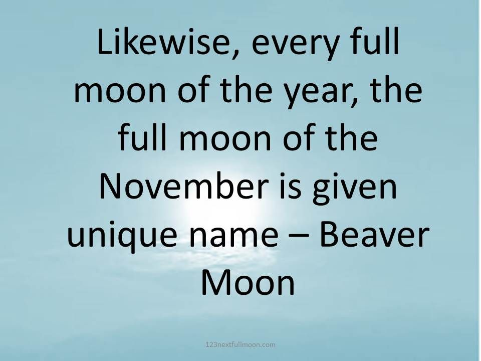 beaver moon 2021 november