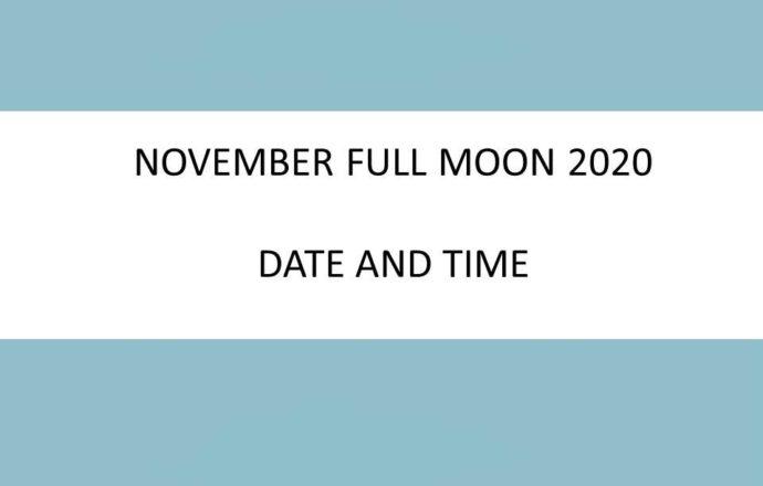 november full moon 2020 date time