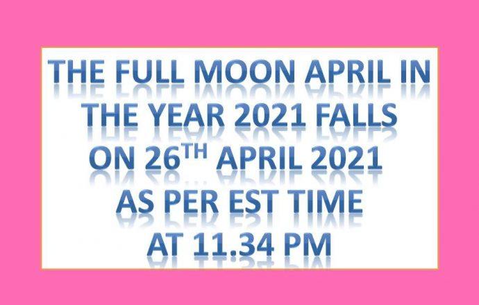 full moon april 2021 pink moon