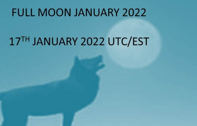 full moon january 2022 wolf moon