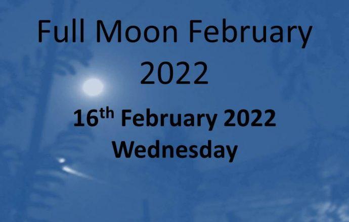 full moon february 2022 snow moon